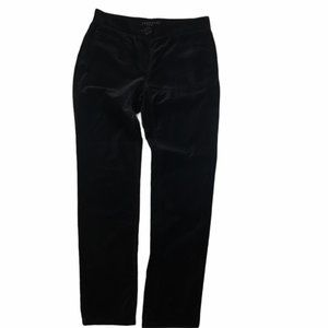 THEORY Black Velvet Slim Fit Abrams Key Pants